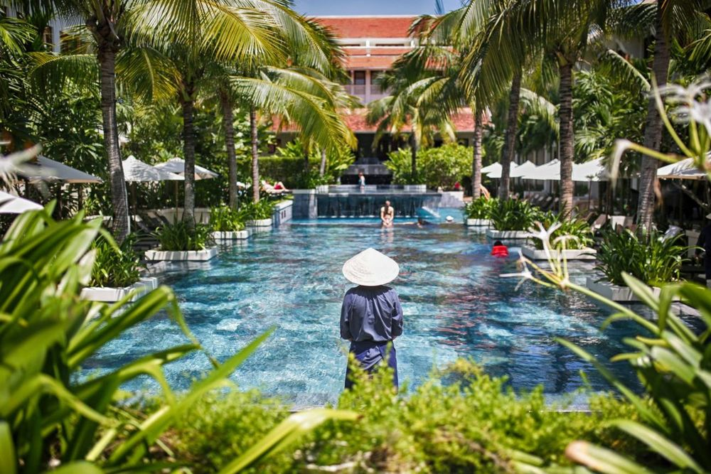 Poolbereich, Almanity Wellness Resort, Hoi An, Vietnam Reise